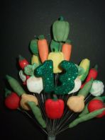 ALLOTMENT 13TH BIRTHDAY CAKE TOPPER - COLOURS AS SHOWN - FREE POSTAGE